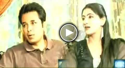 Well Known Anchor Talat Hussain Interview with His Wife and Children