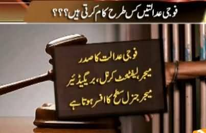 What Are the Military Courts and How They Work, Watch Complete Report
