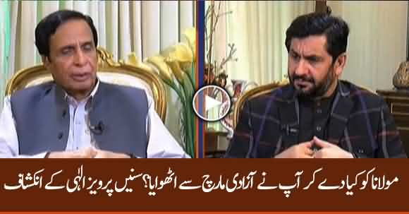 What Did You Offer Maulana Fazlur Rehman To End Azadi March ? Parvez Elahi Reveals