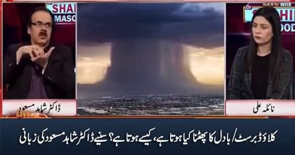 What Is Cloudburst And How It Happens - Dr. Shahid Masood Explains