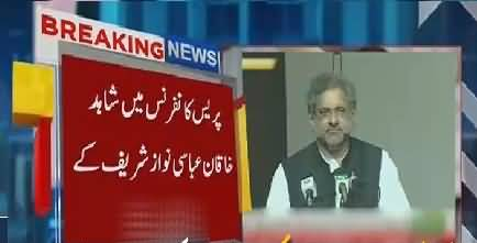 What PM Shahid Khaqan Abbasi Said In PC After NSC Rejected NS Controversial Statement