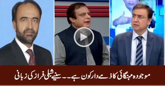 Who Is Responsible For Current Inflation? Listen Shibli Faraz Response