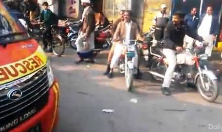Why Media Did Not Show This Video of PTI Workers During Lahore Lock Down