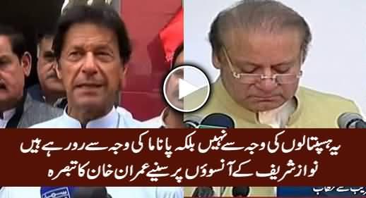 Yeh Hospitals Ki Waja Se Nahi Balke Panama Ki Waja Se Ro Rahe Hain - Imran Khan on PM's Tears