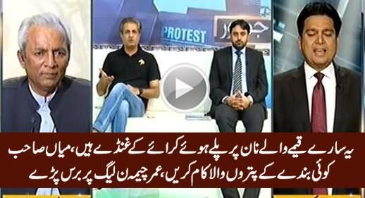 Yeh Qeeme Wale Naan Par Pale Huwe Ghunday Hain - Umar Cheema Blasts on PMLN