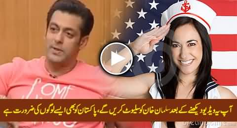 You Will Salute Salman Khan After Watching This Video, Pakistan Also Needs Such People