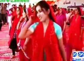 Young Girls Dancing and Firing with Guns at Birthday of Rasool Bakhsh Palejo in Public Place
