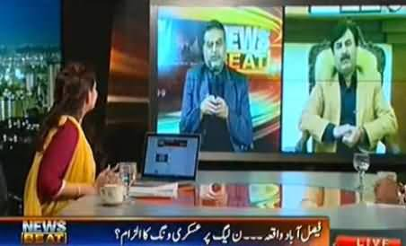 Zaeem Qadri Starts Misbehaving with PTI Shaukat Yousafzai in Live Show