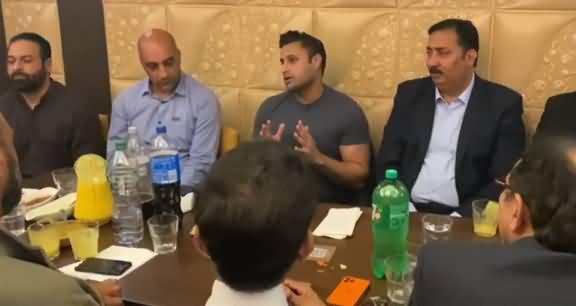 Zulfi Bukhari Talking About Imran Khan's Govt In South London Restaurant